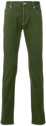 Maison Margiela topstitch skinny jeans
