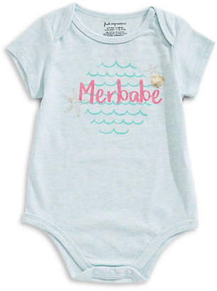 First Impressions Baby Girl's Merbabe Short-Sleeve Bodysuit