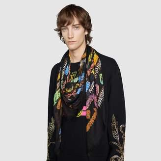 Gucci Modal shawl with Metal Mix print