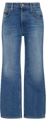 B SIDES Field Cropped Mid-Rise Straight-Leg Jeans Size: 25