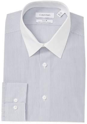 Calvin Klein Striped Slim Fit Dress Shirt