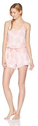 Mae Women's Sleepwear Printed Romper Pajamas