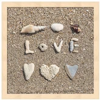 """Metaverse Art Beach """"Love"""" Framed Wall Art"""