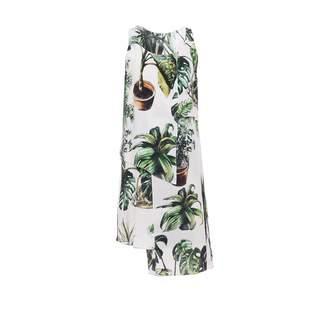 Tomcsanyi - Plants Print Layered Dress