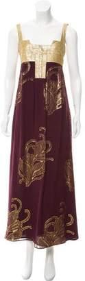 Nicole Miller Sleeveless Metallic Dress