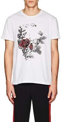 """Alexander McQueen Men's """"Gothic Rose"""" Cotton Jersey T-Shirt"""