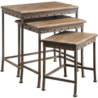 Coaster Company Nesting Table, Brown, Antique Bronze