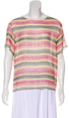 Ashish Embellished Short Sleeve Top