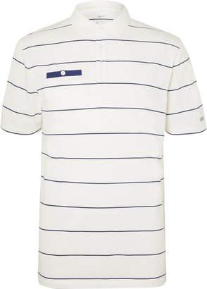 Nike Player Striped Dri-FIT Golf Polo Shirt - Men - White