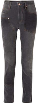 Isabel Marant Orrick Paneled High-rise Slim-leg Jeans - Black