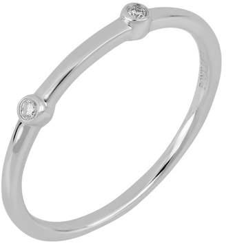 Bony Levy 18K White Gold Bezel Set Diamond Stacking Band Ring - 0.03 ctw