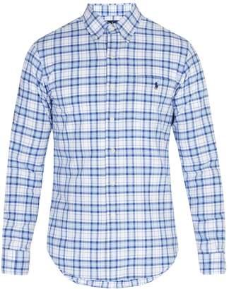 Polo Ralph Lauren Oxford checked cotton-piqué shirt