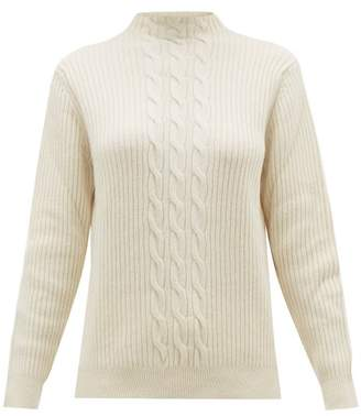 A.P.C. Nico Cable Knit Wool Blend Sweater - Womens - Ivory