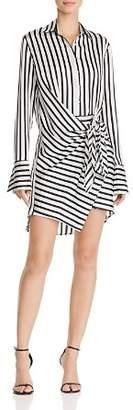 Aqua Tie-Front Striped Shirt Dress - 100% Exclusive