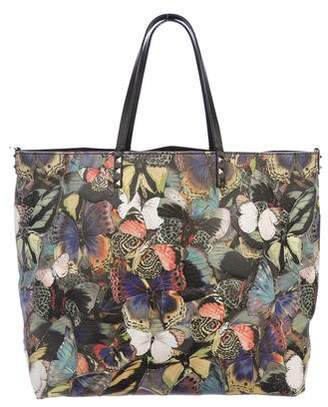 Valentino Rockstud Camu Butterfly Tote