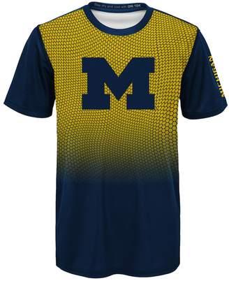 NCAA Kohl's Boys 8-20 Michigan Wolverines Bitmapped Dri-Tek Tee