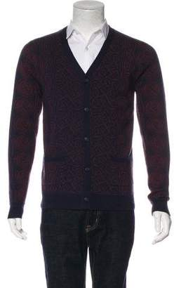 Opening Ceremony Patterned Merino Wool Cardigan
