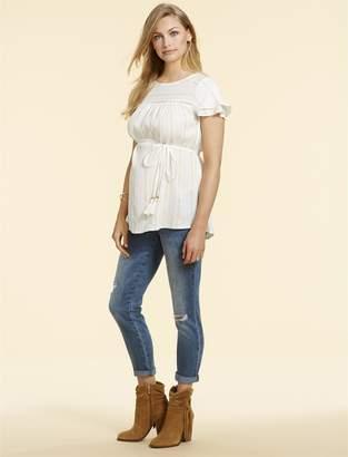 Jessica Simpson Motherhood Maternity Secret Fit Belly Skinny Leg Maternity Crop Jeans