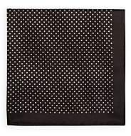 Fairfax Men's Reversible Silk Pocket Square-Black
