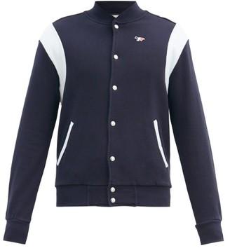 MAISON KITSUNÉ Fox Cotton Bomber Jacket - Mens - Navy