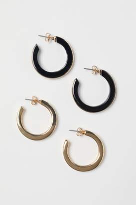 H&M 2 Pairs Earrings - Black