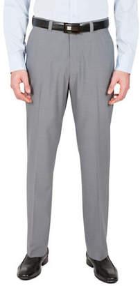 Haggar Subtle Grid Straight-Fit Dress Pants