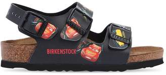 Birkenstock Cars Print Faux Leather Sandals