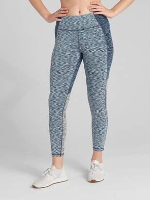 b954a7b43ac2a Gap GFast Mid Rise Colorblock Spacedye 7/8 Leggings in Blackout