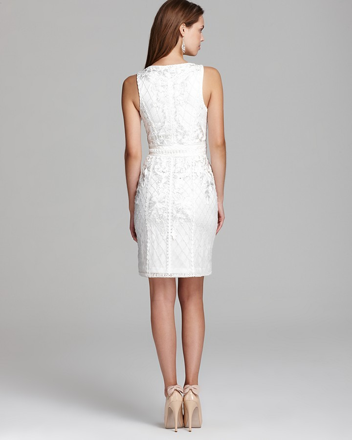 Sue Wong Short Dress - Ribbon Embroidered
