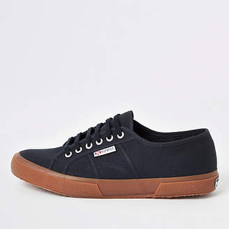 River Island Superga navy classic gum sole runner trainers