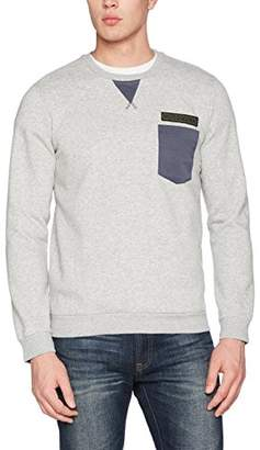 Benetton Men's Sweater L/s Cotton Blend Sweatshirt, Grey 501, X-Large