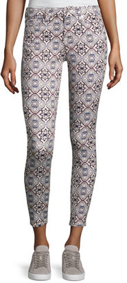 7 For All Mankind The Ankle Skinny Printed Jeans $199 thestylecure.com