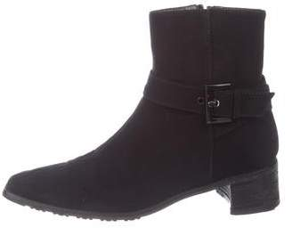 Stuart Weitzman Square-Toe Ankle Boots