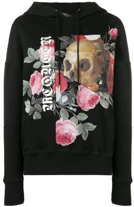 Alexander McQueen patchwork skull and roses hoodie