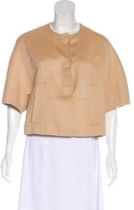 Isabella Collection Tonchi Angora Cropped Jacket Nude Tonchi Angora Cropped Jacket