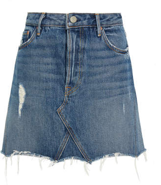 GRLFRND Denim Eva Denim Mini Skirt