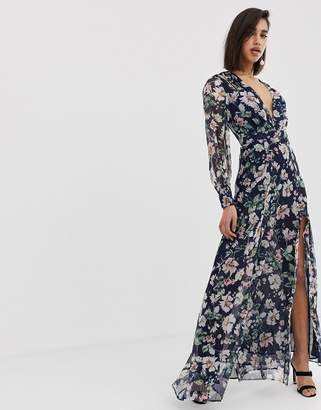 The Jetset Diaries fleur long sleeve maxi dress