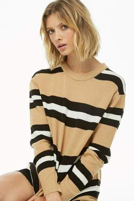 Forever 21 Striped Brushed-Knit Sweater