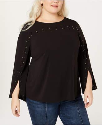 Belldini Black Label Plus Size Embellished Blouse