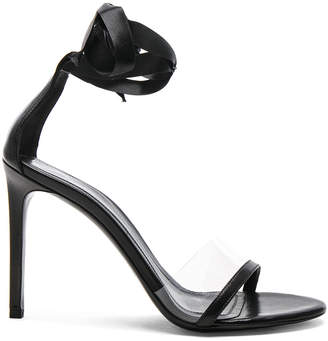 Calvin Klein Leather Camri Ankle Tie Sandals in Black | FWRD