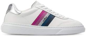Hogan stripe detail sneakers