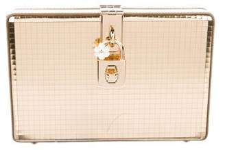 Dolce & Gabbana Metallic Turn-Lock Box Clutch