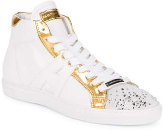 """Alessandro Dell'Acqua Alessandro Dell""""Acqua Women's Embellished High-Top Sneakers"""