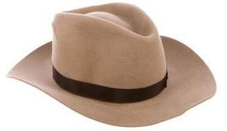 Gladys Tamez Felt Wide-Brimmed Hat