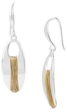 Robert Lee Morris Soho Spun Metal Two-Tone Wire-Wrapped Earrings