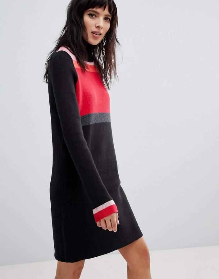 Winter Break rollneck jumper dress