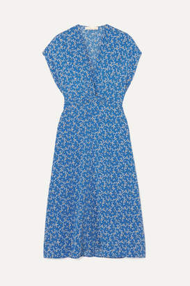 Vanessa Bruno Lona Floral-print Cloqué Dress - Blue