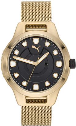Puma Men Reset Stainless Steel Mesh Braclet Watch 44mm