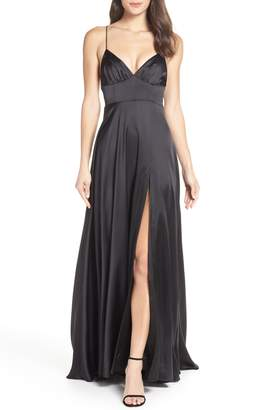 Fame & Partners The Margit Satin Evening Dress