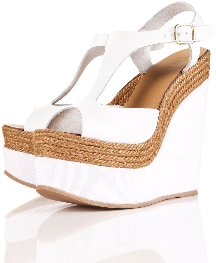 WHAMM Espadrille Leather Wedges